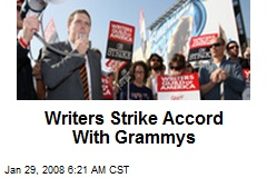 Writers Strike Accord With Grammys