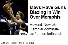 Mavs Have Guns Blazing in Win Over Memphis