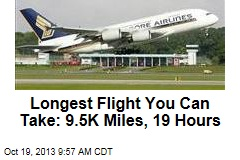 Longest Flight You Can Take: 9.5K Miles, 19 Hours
