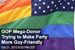 GOP Mega-Donor Trying to Make Party More Gay-Friendly