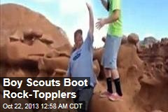 Boy Scouts Boot Rock-Topplers