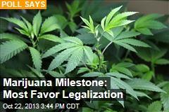 Marijuana Milestone: Most Favor Legalization