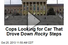 Cops Looking for Car That Drove Down Rocky Steps