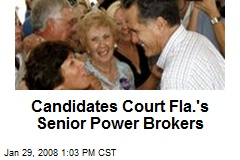 Candidates Court Fla.'s Senior Power Brokers