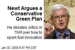 Newt Argues a Conservative Green Plan