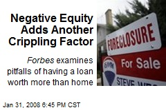 Negative Equity Adds Another Crippling Factor