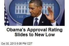 Obama's Approval Rating Slides to New Low