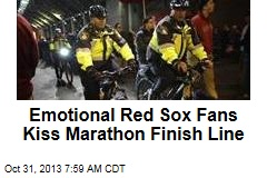 Red Sox Fans Celebrate, Kiss Marathon Finish Line