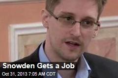 Snowden Gets a Job
