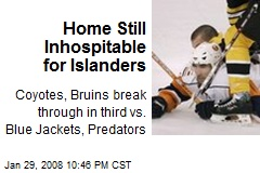 Home Still Inhospitable for Islanders