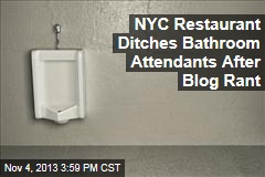 NYC Restaurant Ditches Bathroom Attendants After Blog Rant
