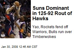 Suns Dominant in 125-92 Rout of Hawks