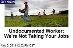Undocumented Worker: We're Not Taking Your Jobs
