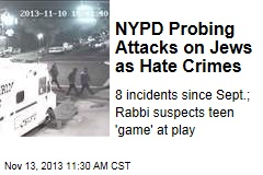 NYPD Probing Attacks on Jews as Hate Crimes
