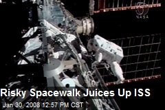 Risky Spacewalk Juices Up ISS