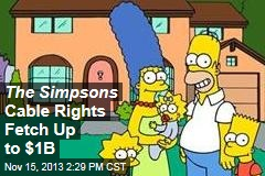 The Simpsons Cable Rights Fetch Up to $1B