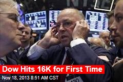 Dow Hits 16K for First Time