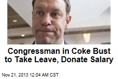Coke-Bust Congressman to Take Leave, Donate Salary