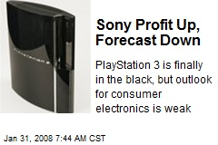 Sony Profit Up, Forecast Down