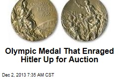 Olympic Medal That Enraged Hitler Up for Auction