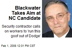 Blackwater Takes Aim at NC Candidate