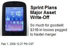 Sprint Plans Major Asset Write-Off
