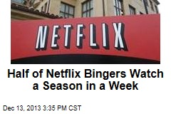 Half of Netflix Bingers Watch a Season in a Week