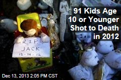 91 Kids Age 10 or Younger Shot to Death in 2012