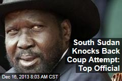 South Sudan Knocks Back Coup Attempt: Top Official