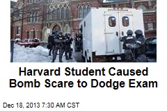 Harvard Student Caused Bomb Scare to Dodge Exam
