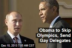 Obama Skips Olympics, Sends Gay Delegates
