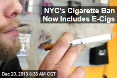 NYC's Cigarette Ban Now Includes E-Cigs
