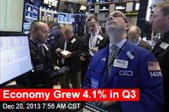 Economy Grew 4.1% in Q3