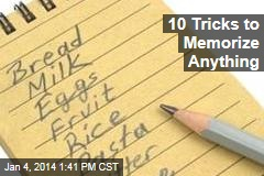 10 Tricks to Memorize Anything