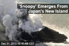 'Snoopy' Emerges From Japan's New Island
