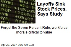 Layoffs Sink Stock Prices, Says Study