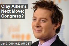 Clay Aiken's Next Move: Congress?