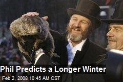 Phil Predicts a Longer Winter