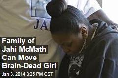 Family of Jahi McMath Can Move Brain-Dead Girl
