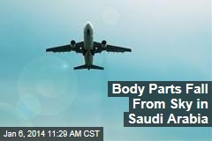 Body Parts Fall From Sky in Saudi Arabia