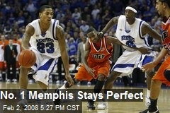 No. 1 Memphis Stays Perfect