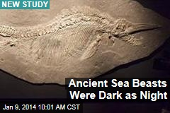 Ancient Sea Beasts Were Dark as Night