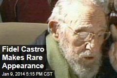 Fidel Castro Makes Rare Appearance