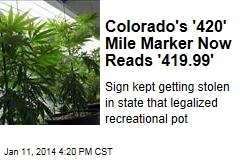 Colorado's '420' Mile Marker Now Reads '419.99'