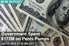 Government Spent $172M on Penis Pumps