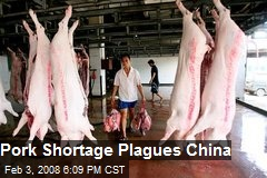 Pork Shortage Plagues China