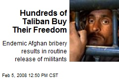 Hundreds of Taliban Buy Their Freedom