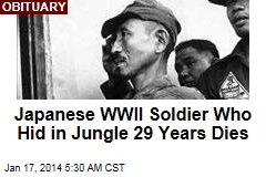 Last Japanese WWII Soldier to Surrender Dies