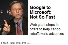 Google to Microsoft: Not So Fast