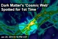 Dark Matter's Cosmic 'Web' Spotted for 1st Time